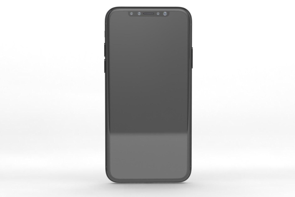 Render van de iPhone 8 voorkant.