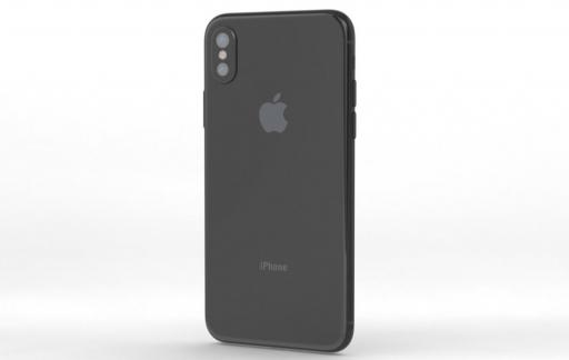 Render van de iPhone 8 achterkant.