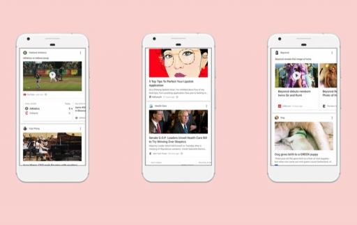 Nieuwe persoonlijke feed in Google-app.