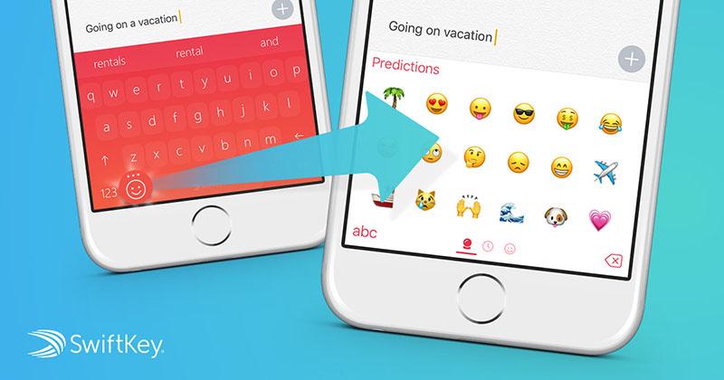 SwiftKey voorspelt emoji