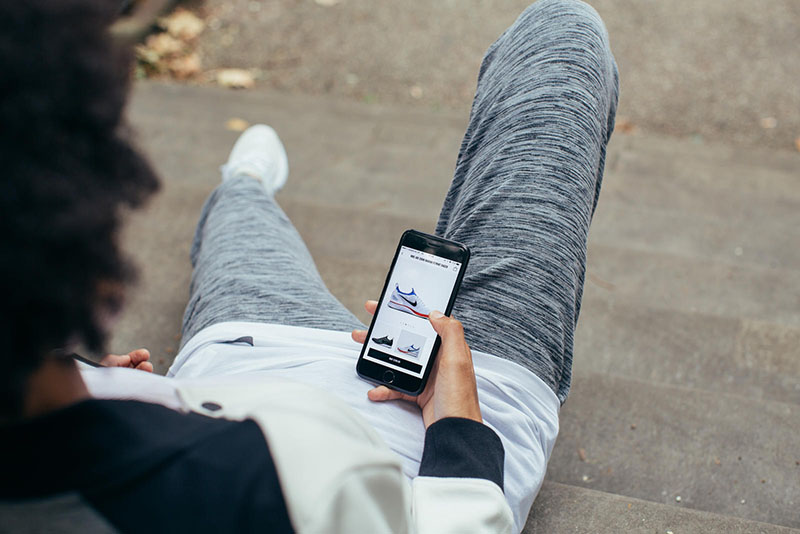 Nike app: hangen, niet sporten