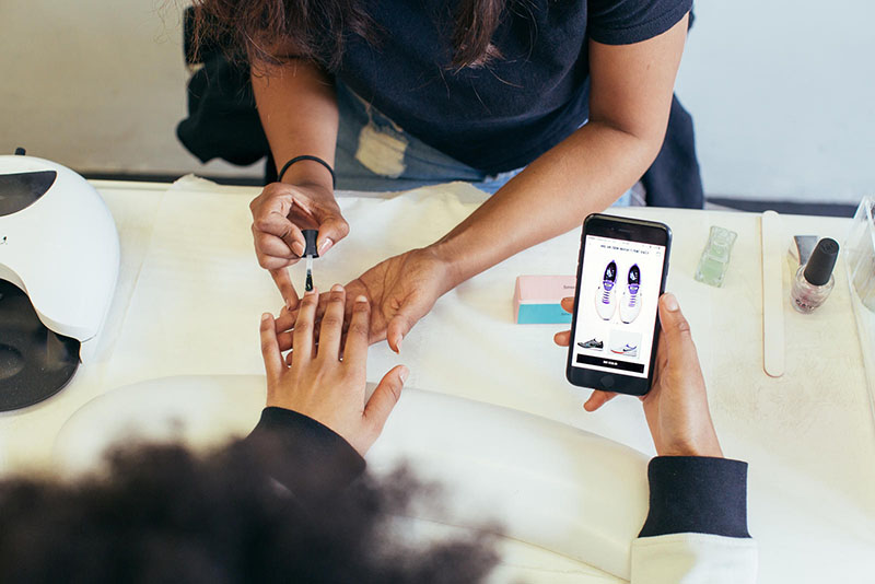Nike app nagels lakken