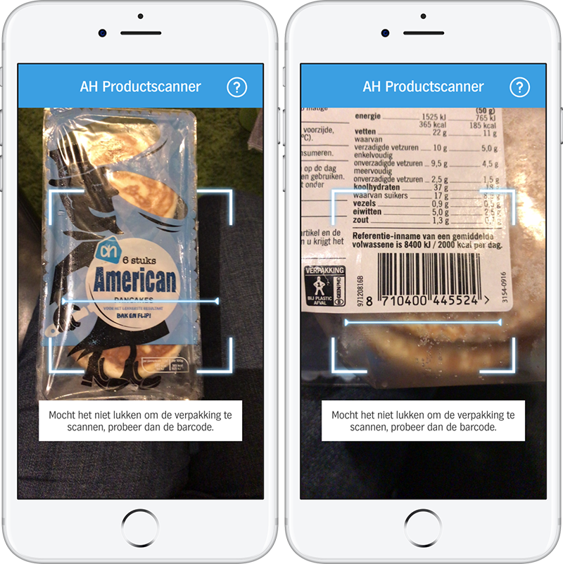 AH Productscanner pancakes