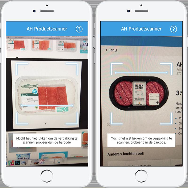 AH Productscanner vlees en vis