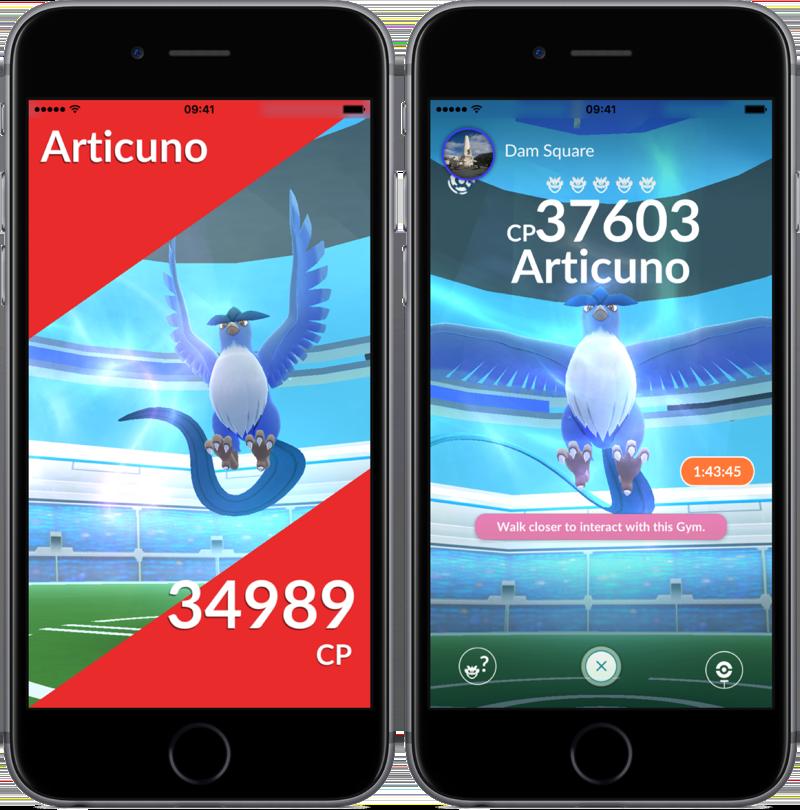 Pokémon Go Articuno vangen.
