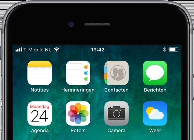 iOS 11 Contacten, Herinneringen en Notities.