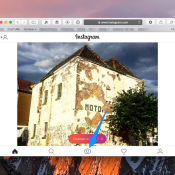 Instagram in Safari op de desktop
