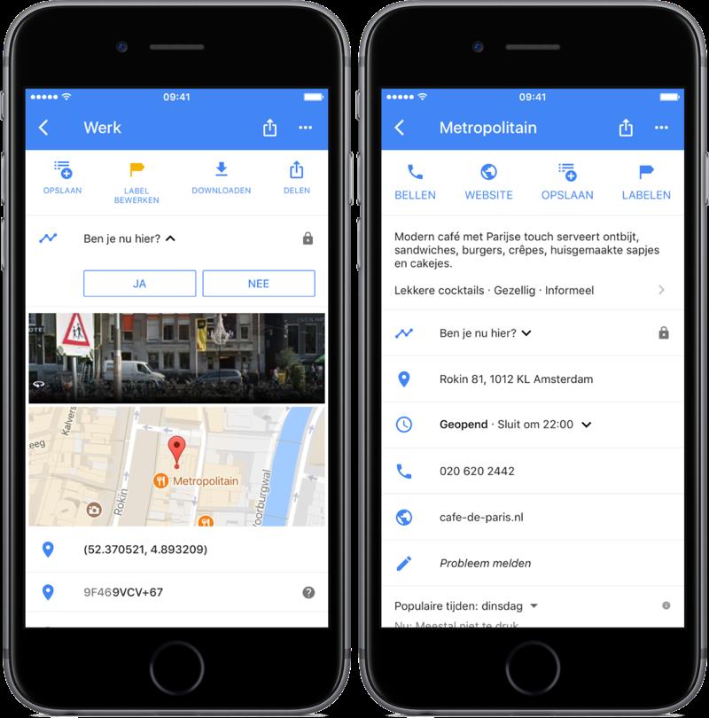 Google Maps tijdlijn handmatig toevoegen.