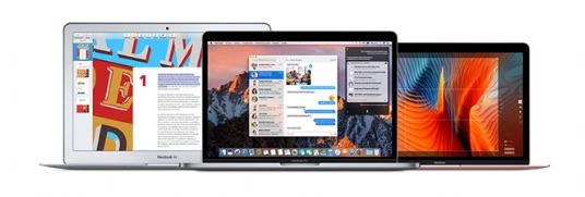 MacBook, MacBook Air en MacBook Pro.
