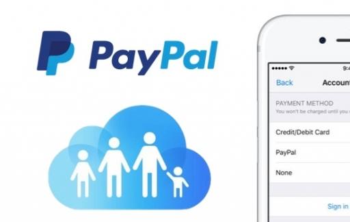 PayPal en Delen met gezin in iCloud.