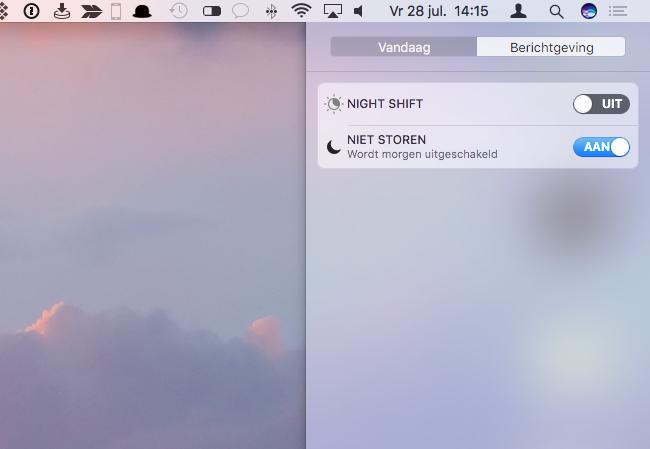 Niet Storen op de Mac