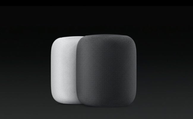 HomePod in zwart wit