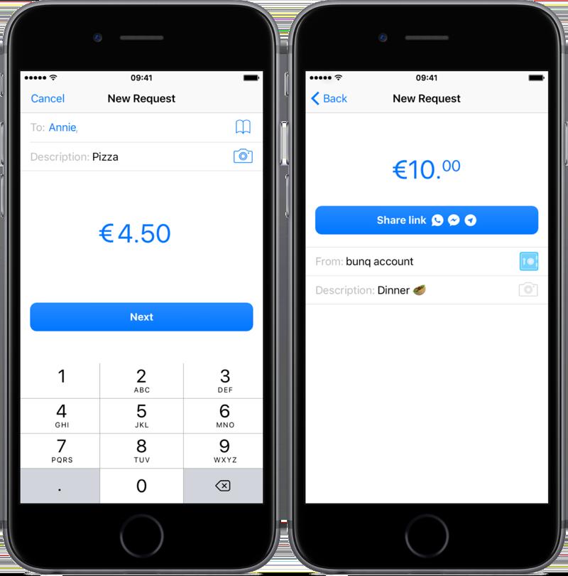 Open betaalverzoek in bunq-app.