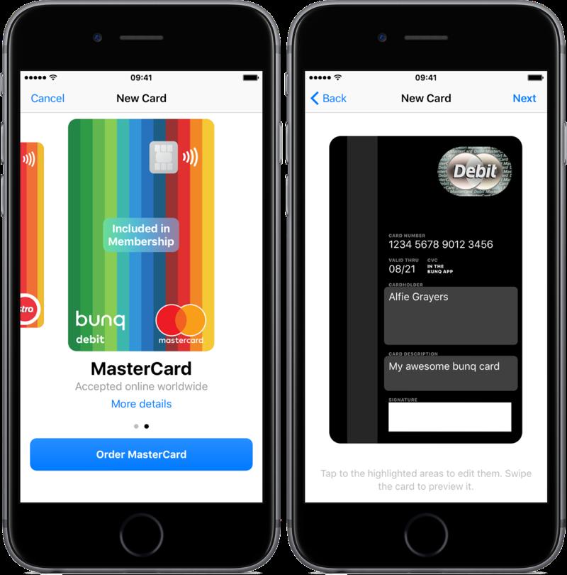 bunq premium met debit MasterCard.