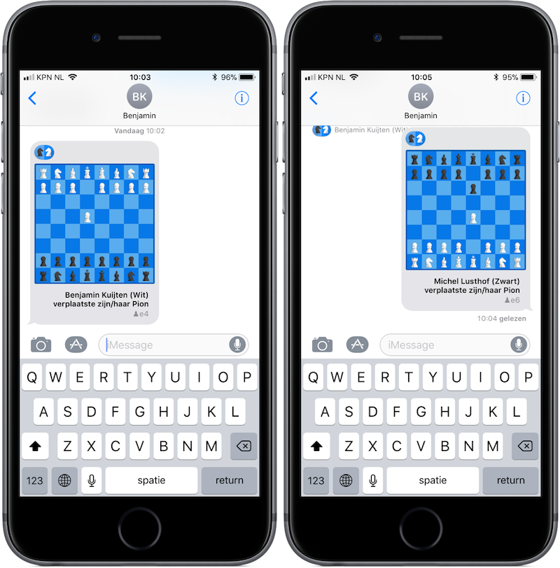 Checkmate iMessage-app voor iPhone en iPad