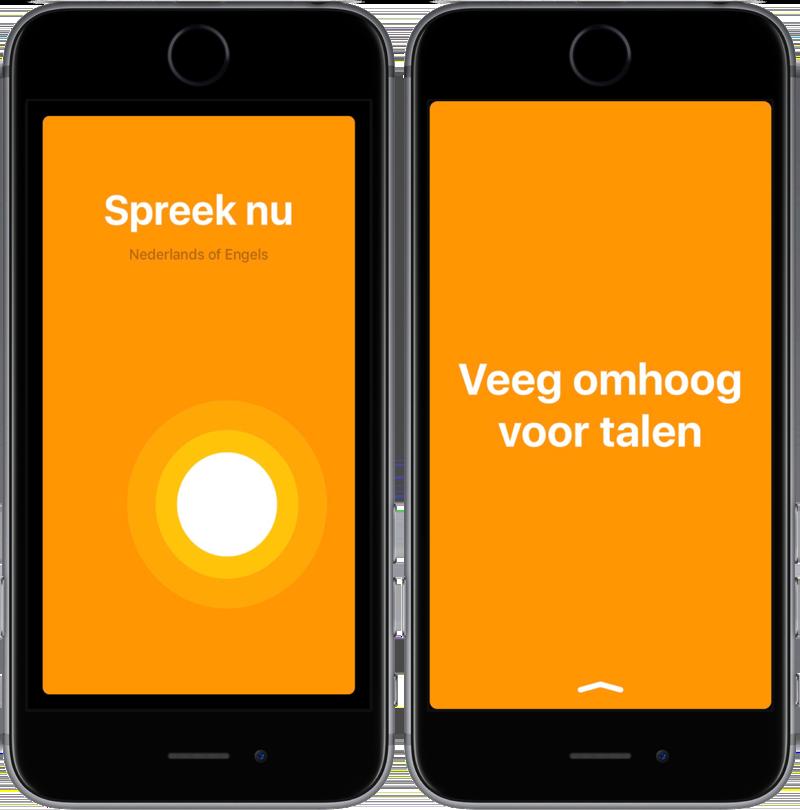 iTranslate Converse vertalen en inspreken.