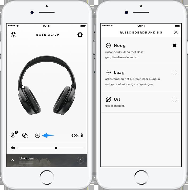 Bose QuietComfort 35 Noise Cancelling Instellingen