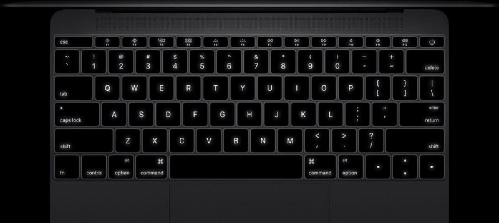 12 inch MacBook toetsenbord