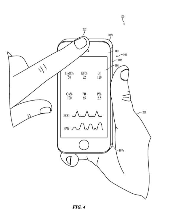 Patent voor het aflezen van gezondheid via de frontcamera.
