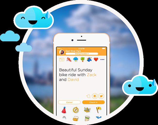 Swarm app locaties
