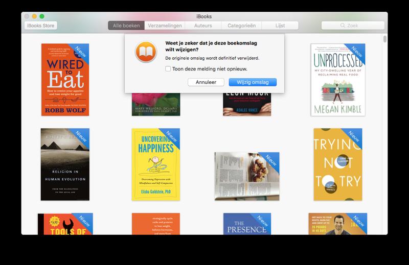 iBooks boekomslag wijzigen