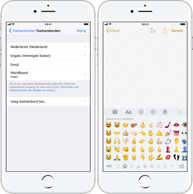 Emoji-toetsenbord op de iPhone