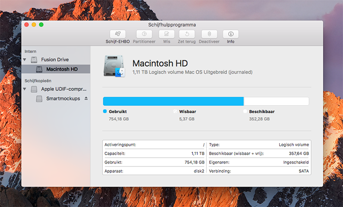 Schijfhulpprogramma Mac