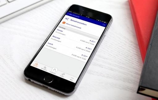 Rabobank-app met overzicht van betaalverzoeken.