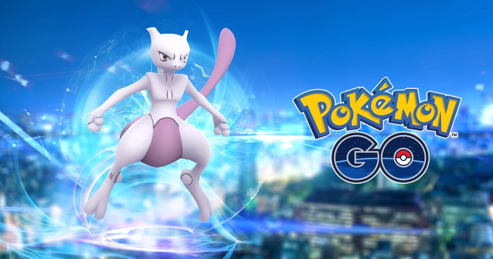 Mewtwo in Pokémon Go.