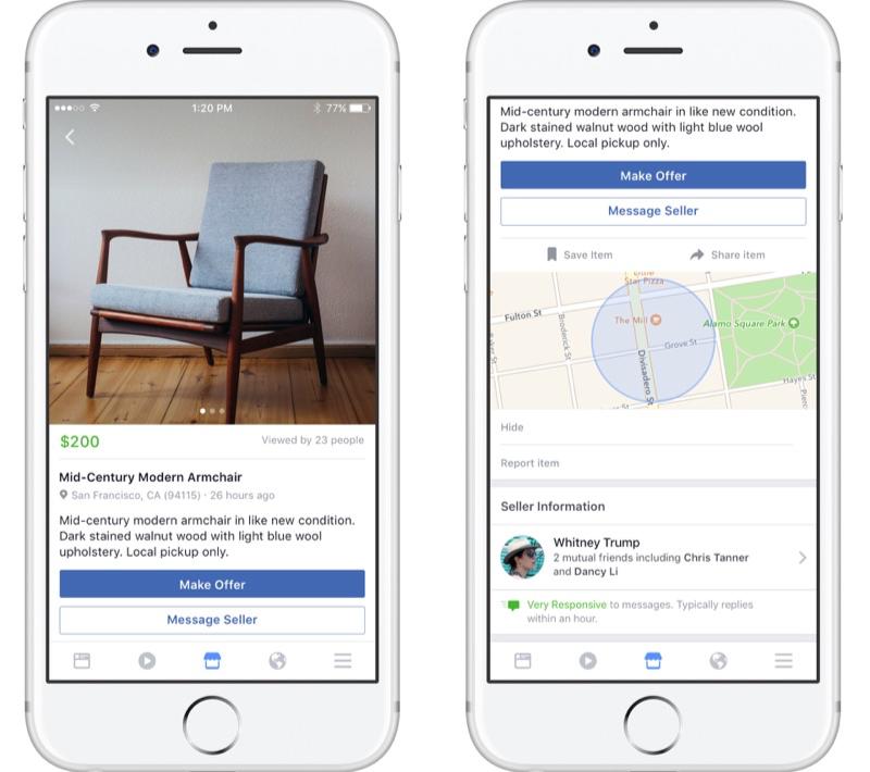 Facebook Marketplace advertentie plaatsen.