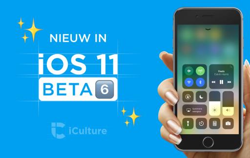 Nieuw in iOS 11 beta.