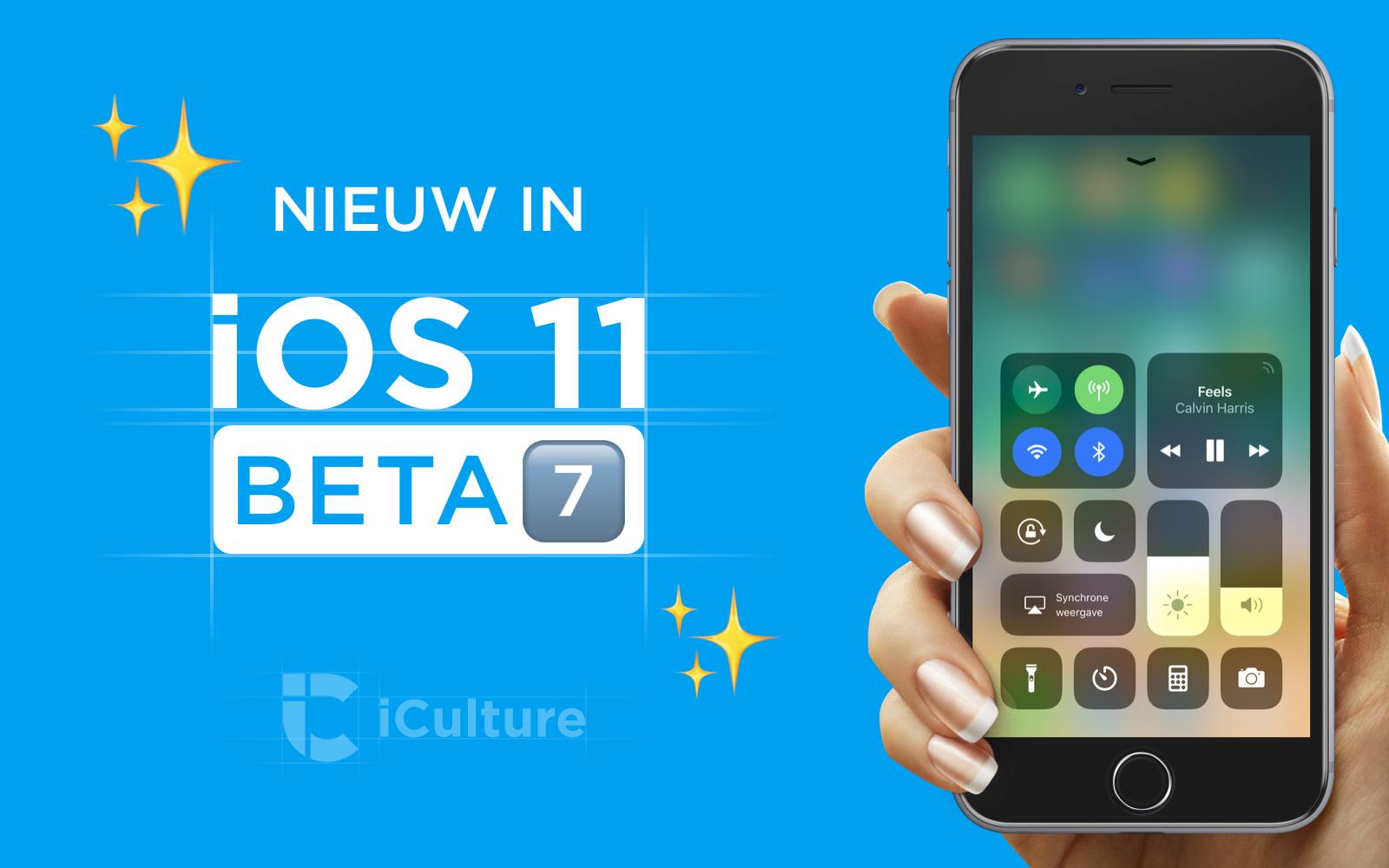 Nieuw in iOS 11 beta 7.