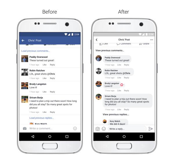 Overzichtelijkere reacties in nieuwsoverzicht Facebook