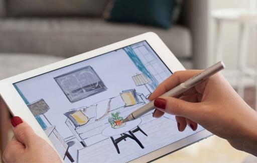 Adonit Jot Pro-stylus met iPad.