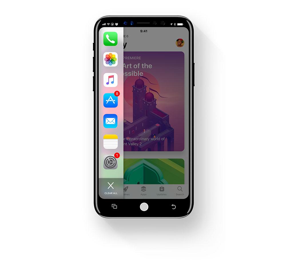 iOS 12 dock