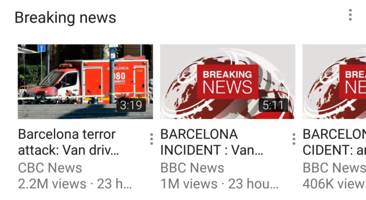 YouTube Breaking News
