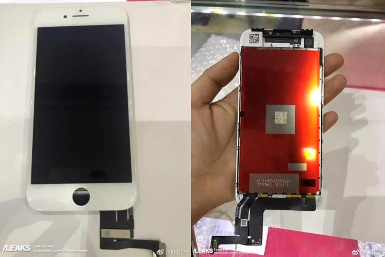Mogelijke beeldscherm van iPhone 7s.