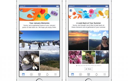 Facebook herinneringen van berichten.