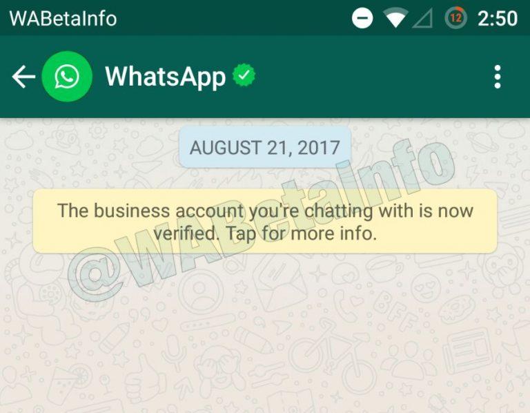 Bedrijven in WhatsApp te herkennen aan een groen vinkje