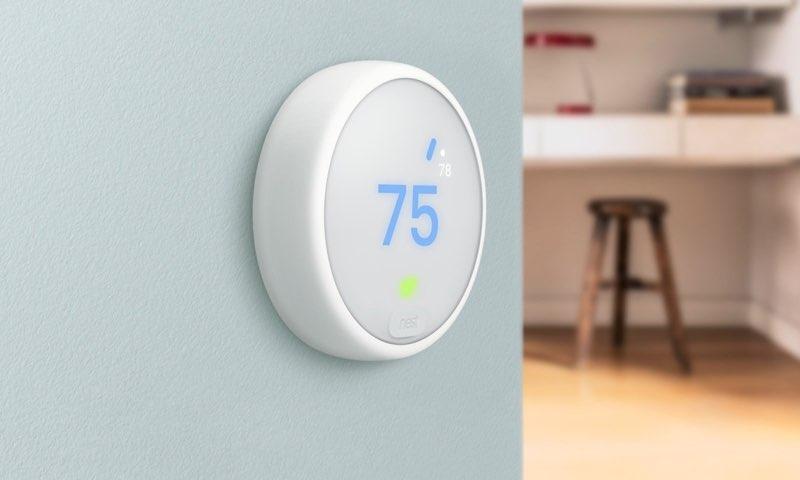 Nest Thermostat E aan de muur