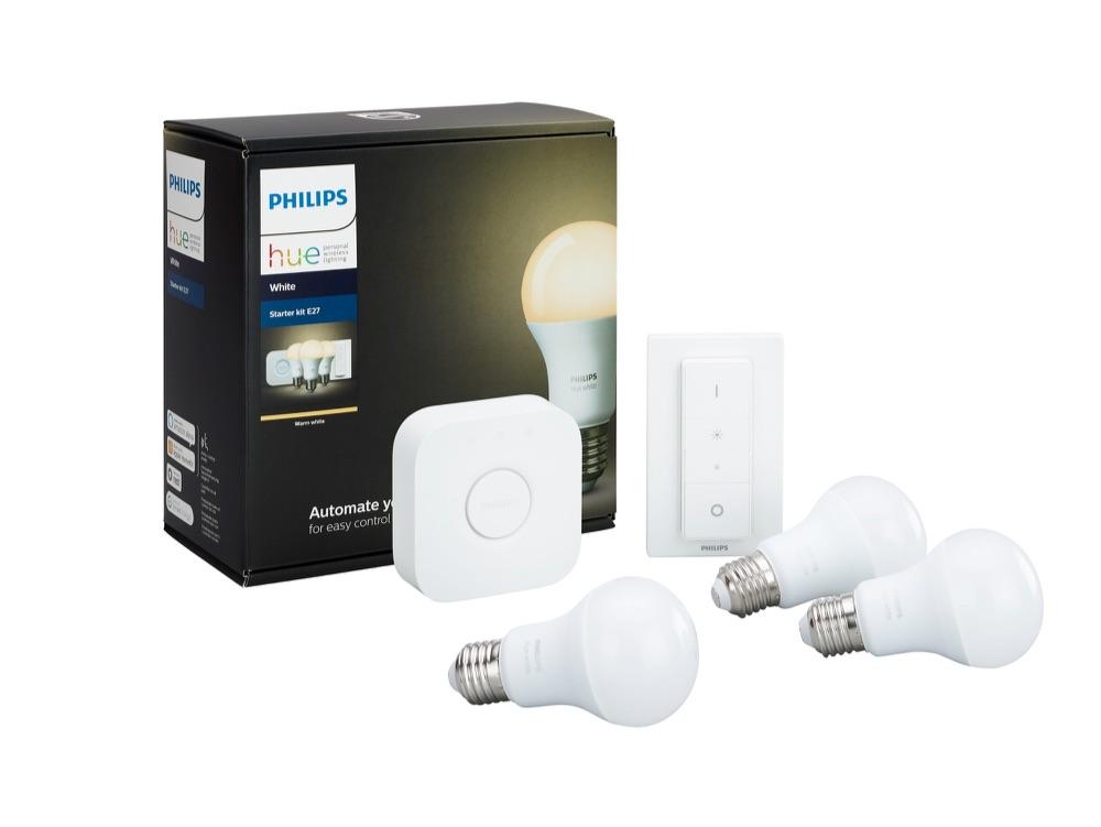Nieuw Philips Hue starterpakket met dimschakelaar.