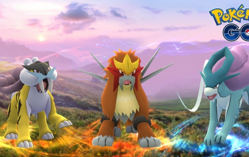 Raikou, Entei en Suicune in Pokémon Go.
