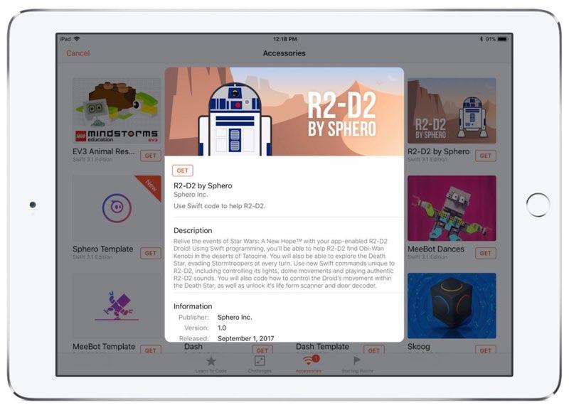 Swift Playgrounds met Star Wars-robots