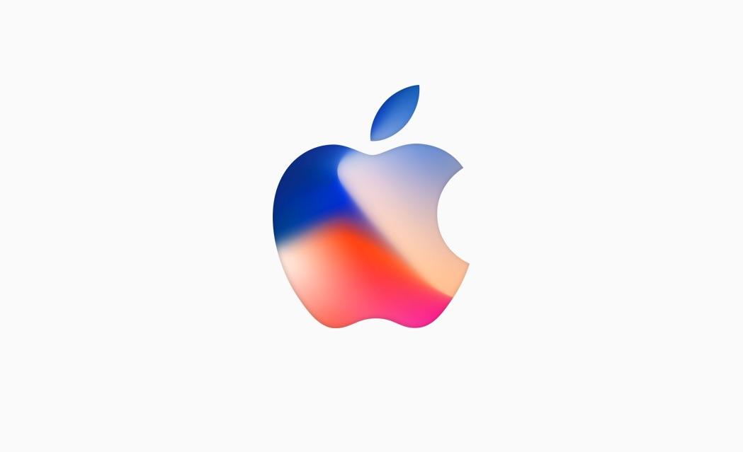 Uitnodiging van iPhone 8-event in het groot.