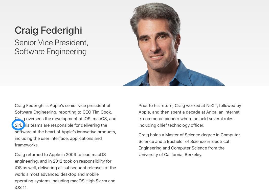 Craig Federighi met Siri.