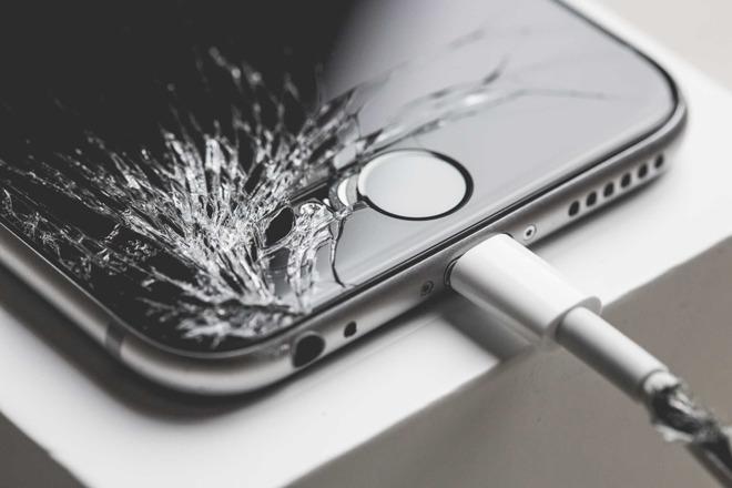iPhone-schade met glasbreuk