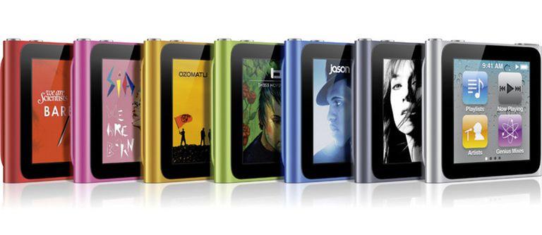 6e generatie iPod nano kleuren
