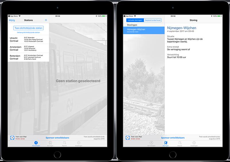 Trein 2 op de iPad