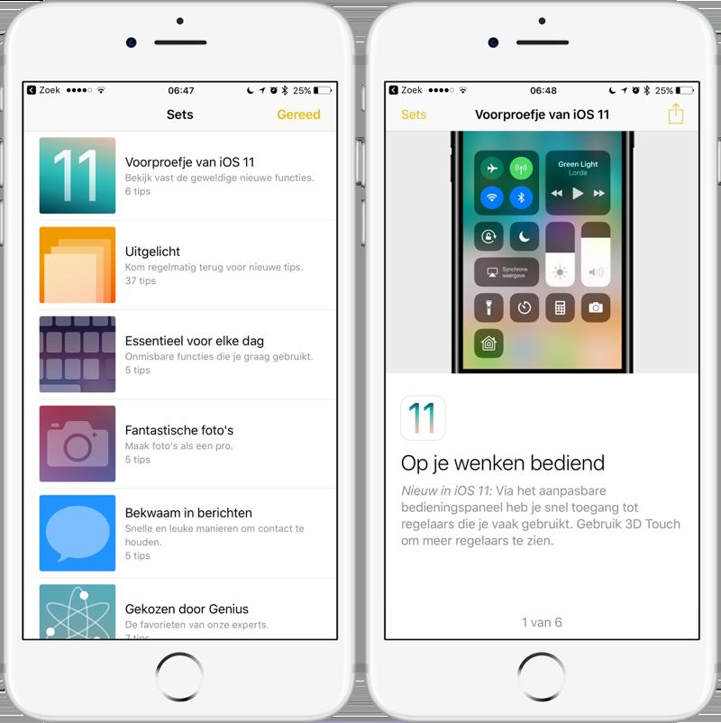 iOS 11 tips app