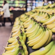 Supermarkt-apps met bananen